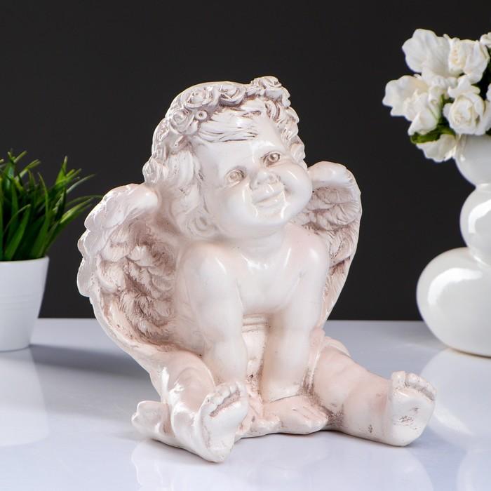 Фигура «Ангел карапуз сидя» состаренный 19х22х24см - фото 1003815