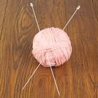 Спицы для вязания прямые, с пластиковым наконечником, d=2мм, 35см, 2шт