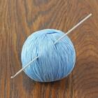 Крючок для вязания алюминиевый, d=2,5мм, 15см