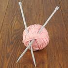 Спицы для вязания прямые, с пластиковым наконечником, d=9мм, 35см, 2шт
