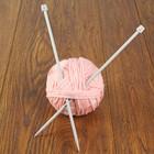 Спицы для вязания прямые, с пластиковым наконечником, d=7мм, 35см, 2шт