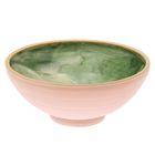 """Пиала """"Колорит"""" зелёная, белая глина, 0,5 л"""