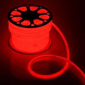 Flexible neon light round ø 16 mm, 50 meters, LED-120-SMD2835, 220V, RED
