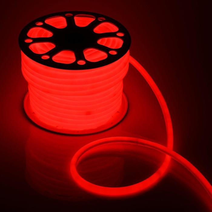 Гибкий неон круглый D 16 мм, 50 метров, LED-120-SMD2835, 220 V, КРАСНЫЙ