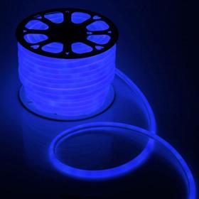 Гибкий неон круглый, D=16 мм, 50 м, LED/м-120-SMD2835-220V, СИНИЙ