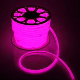 Flexible neon light round ø 16 mm, 50 meters, LED-120-a SMD2835, 220V, PINK