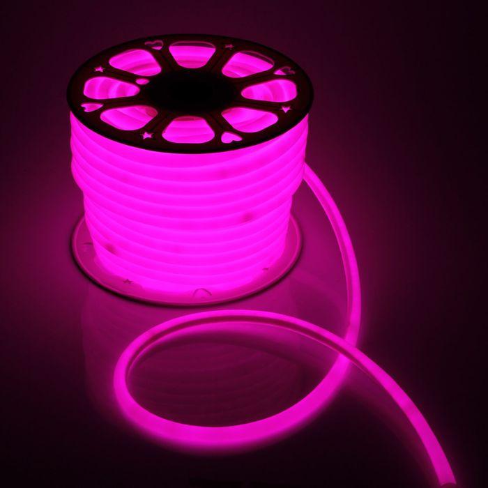 Гибкий неон круглый D 16 мм, 50 метров, LED-120-SMD2835, 220 V, РОЗОВЫЙ