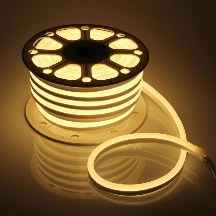 Гибкий неон, 15х25 мм, 25 м, LED/м-120-SMD2835-220V, Т/БЕЛЫЙ