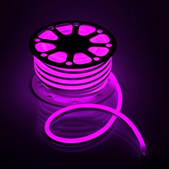 Гибкий неон 15 х 25 мм, 25 метров, LED-120-SMD2835, 220 V, РОЗОВЫЙ