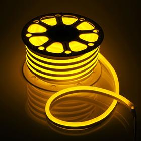 Flexible neon 15 x 25 mm, 25 metres, LED-120-SMD2835, 220 V, YELLOW