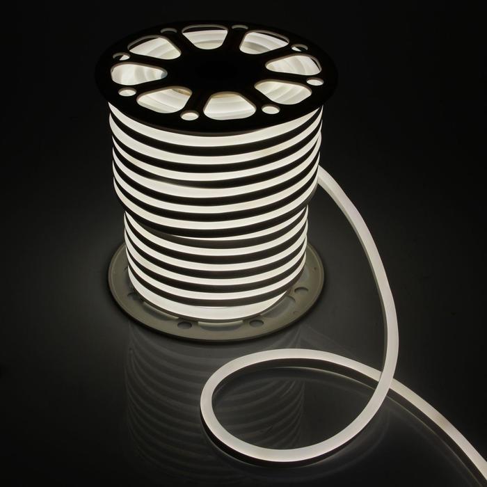 Гибкий неон, 15х25 мм, 50 м, LED/м-120-SMD2835-220V, БЕЛЫЙ