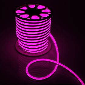 Flexible neon 15 x 25 mm, 50 meters, LED-120-a SMD2835, 220V, PINK
