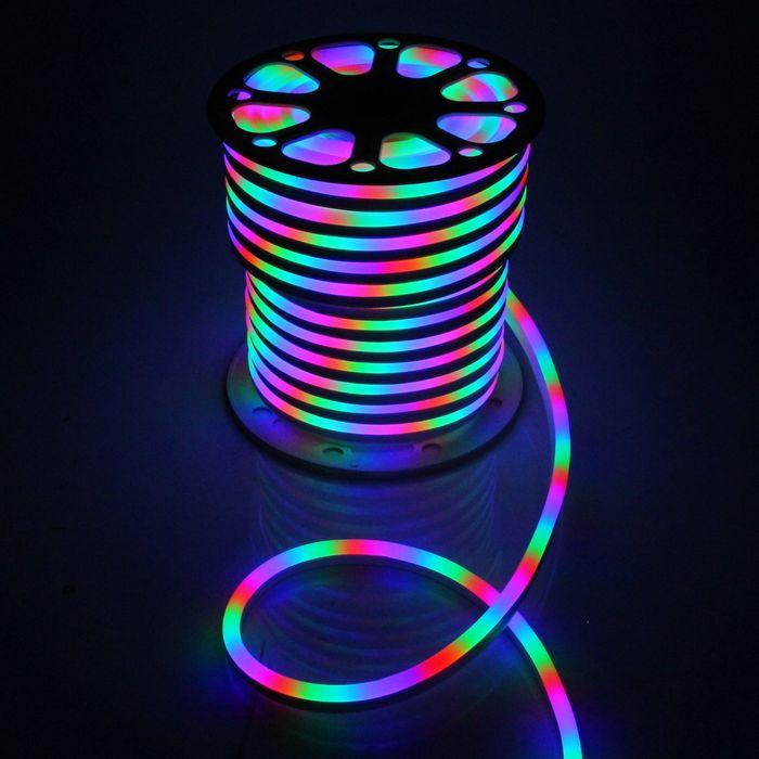 Гибкий неон 15 х 25 мм, 50 метров, LED-120-SMD2835, 220 V, МУЛЬТИ