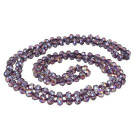 Бусы шар №8, граненый через узел 'Хрусталь', цвет фиолетовый, 100см Ош