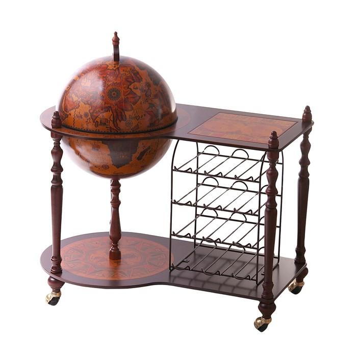 """Глобус-бар со столиком """"Северный ветер"""", d = 42 см"""