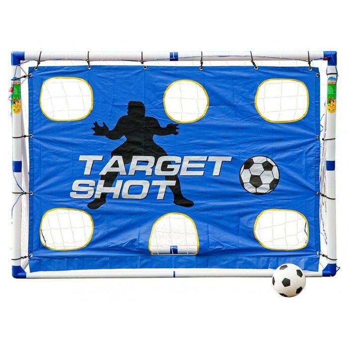 Разборные футбольные ворота с тренировочными сетками Madcador 3 в 1 (сетка-мишень, сетка-отражатель)