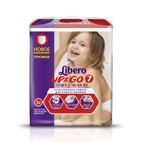 Трусики Libero Up &Go Extra Large+, размер 7, 12 шт.