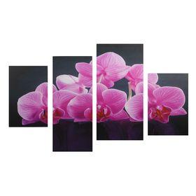 "Картина модульная на подрамнике ""Розовые орхидеи""  2-30х45; 1-29,5х69; 1-34х69"