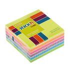 Блок с липким краем Hopax 76 х76 мм, 400 листов Hopax, 7 цветов неон+пастель