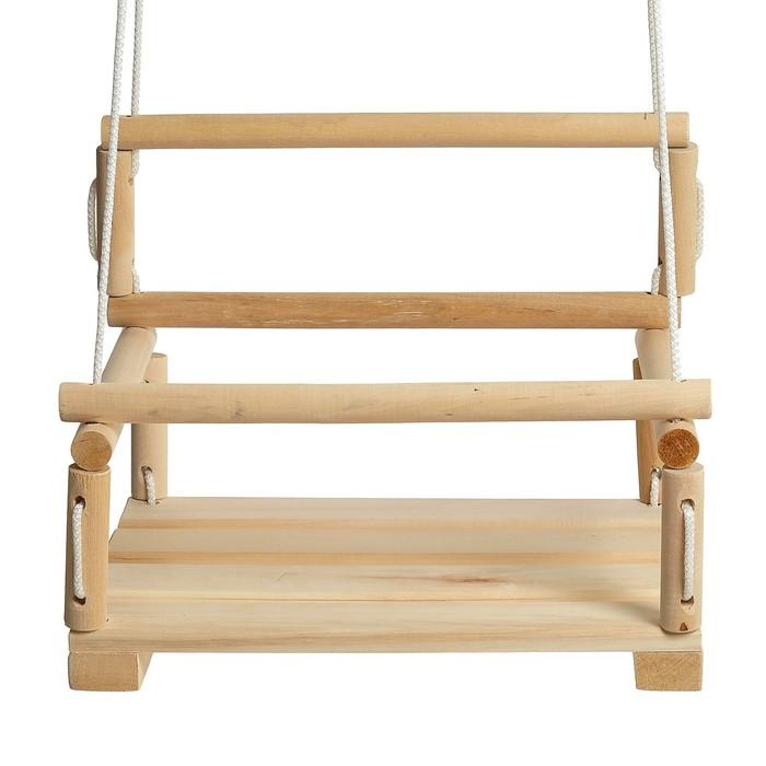 Качель  подвесная, деревянная 28х28см