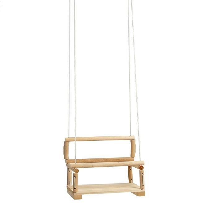 Качели детские подвесные, деревянные, сиденье 28×28см
