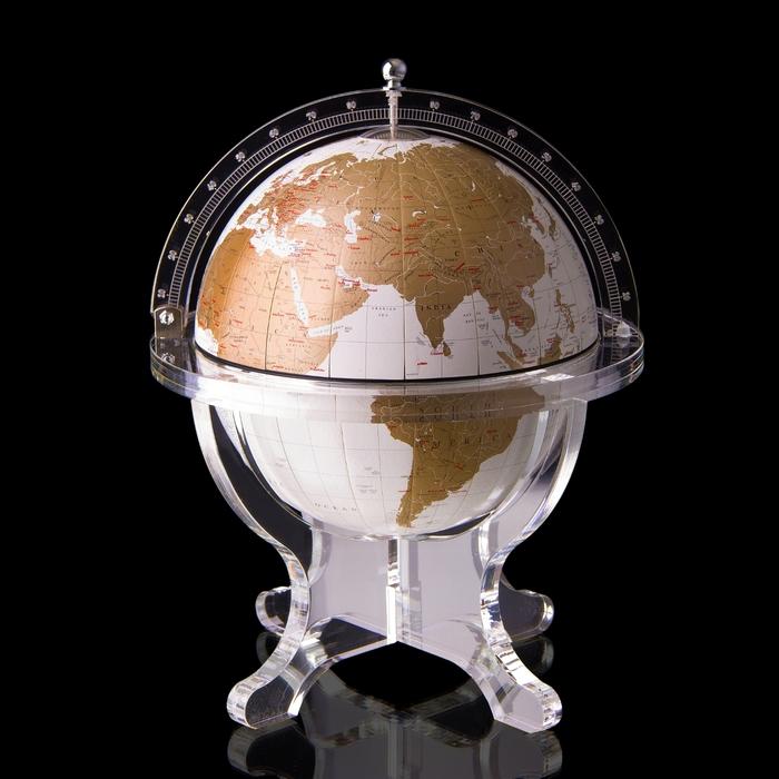 Globe box, white.