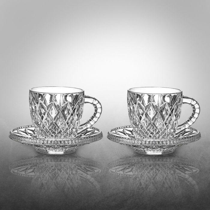 Набор кофейный на 2 персоны Mokko: чашки 200 мл, блюдца 15,5 см