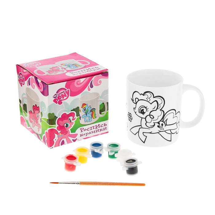 Кружка керамическая для росписи My little Pony