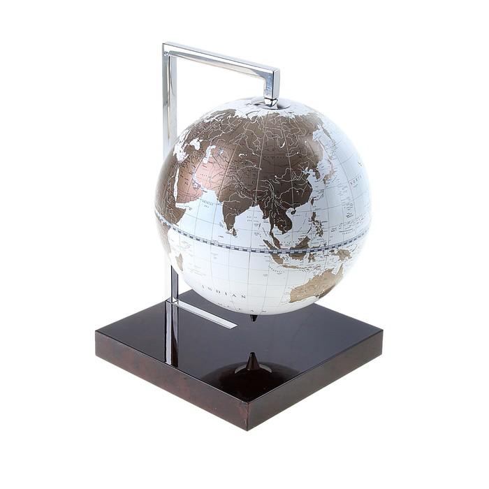 Desktop souvenir globe, white, d 22 cm.