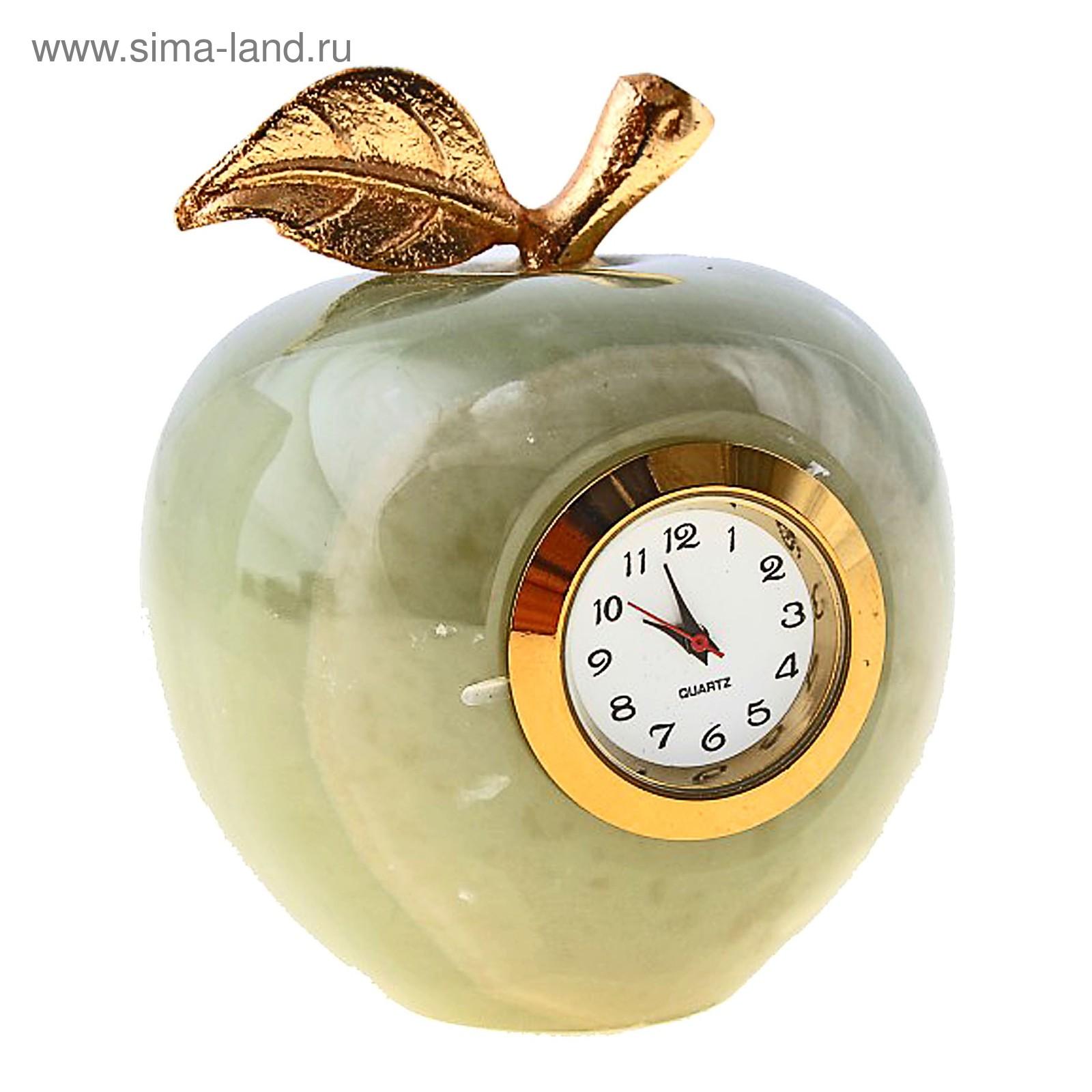 Часы из змеевика Яблоко.