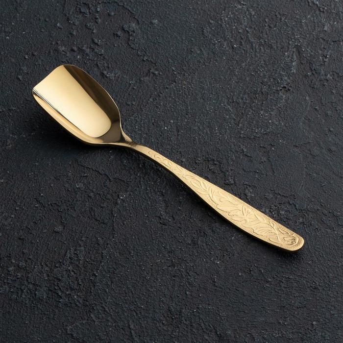 Ложка для сахара «Уралочка», толщина 2 мм, с полным декоративным покрытием