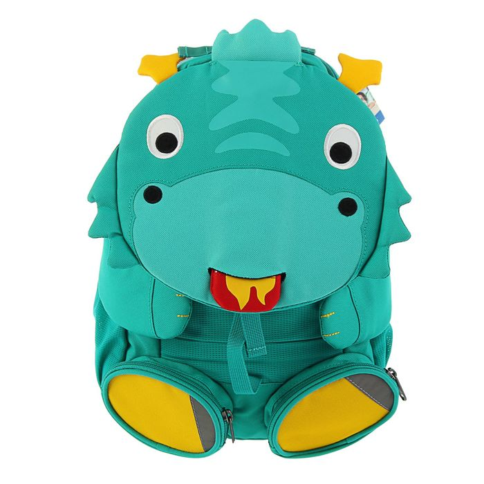 """Рюкзачок детский эргономичная спинка Affenzahn Big Friends 31*20*12 """"Dragon Danny"""" бирюзовый"""