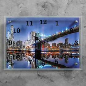 Wall clock, series: City, Brooklyn Bridge, 25x35 cm, mix