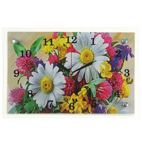 """Часы настенные, серия: Цветы, """"Полевые цветы"""", 20х30  см, микс"""