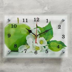 """Часы настенные, серия: Кухня, """"Яблоко"""", 20х30  см, микс"""