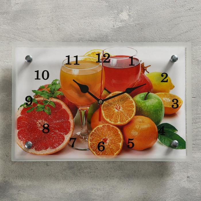 "Часы настенные, серия: Кухня, ""Цитрусы"", 20х30  см, микс"