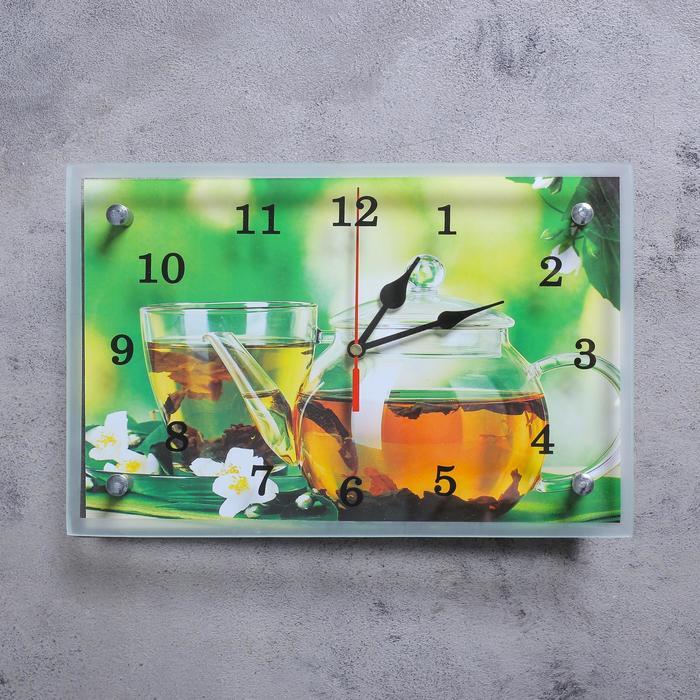 """Часы настенные, серия: Кухня, """"Чайничек чая"""", 20х30  см, микс"""