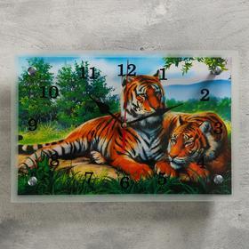 """Часы настенные, серия: Животный мир, """"Тигры"""", 20х30  см, микс"""