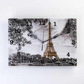 """Часы настенные, серия: Город, """"Эйфелева башня, 25х35  см, микс"""
