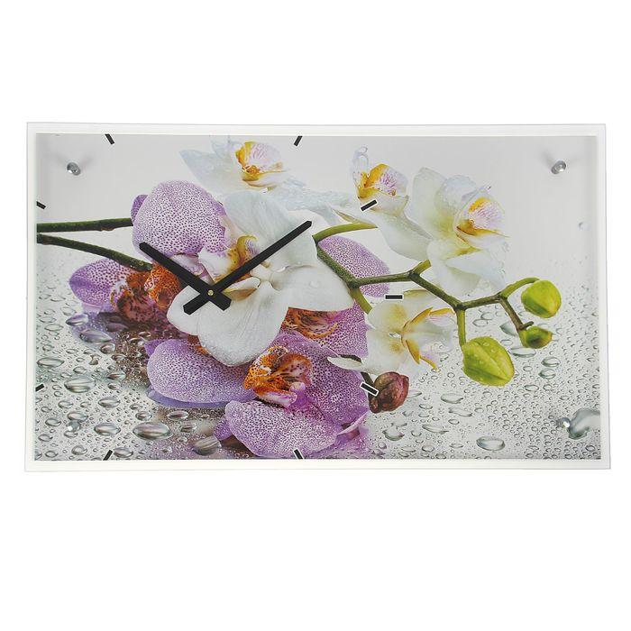 """Часы настенные, серия: Цветы, """"Орхидеи"""", 35х60  см, микс"""