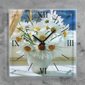 """Часы настенные, серия: Цветы, """"Ромашки"""", 50х50  см, микс"""