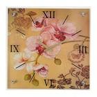 """Часы настенные, серия: Цветы, """"Ветка орхидеи"""", 50х50  см, микс"""