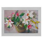 """Картина-гербарий """"Бело-розовые орхидеи"""""""