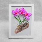 """Картина-гербарий """"Ярко-розовые цветы"""""""