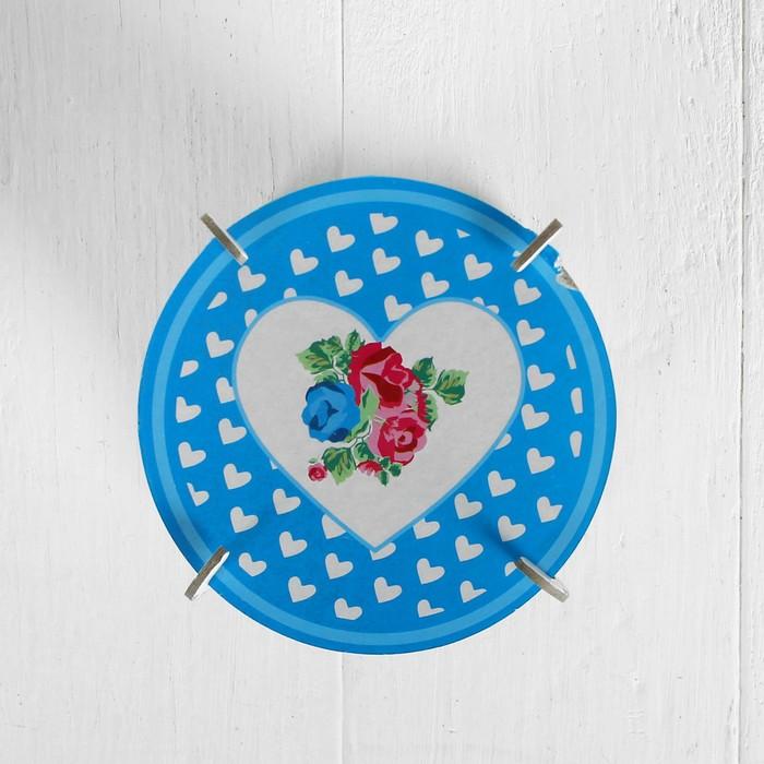 """Подставка для пирожных """"Цветочный сад"""", набор 3 шт., d=10 см"""