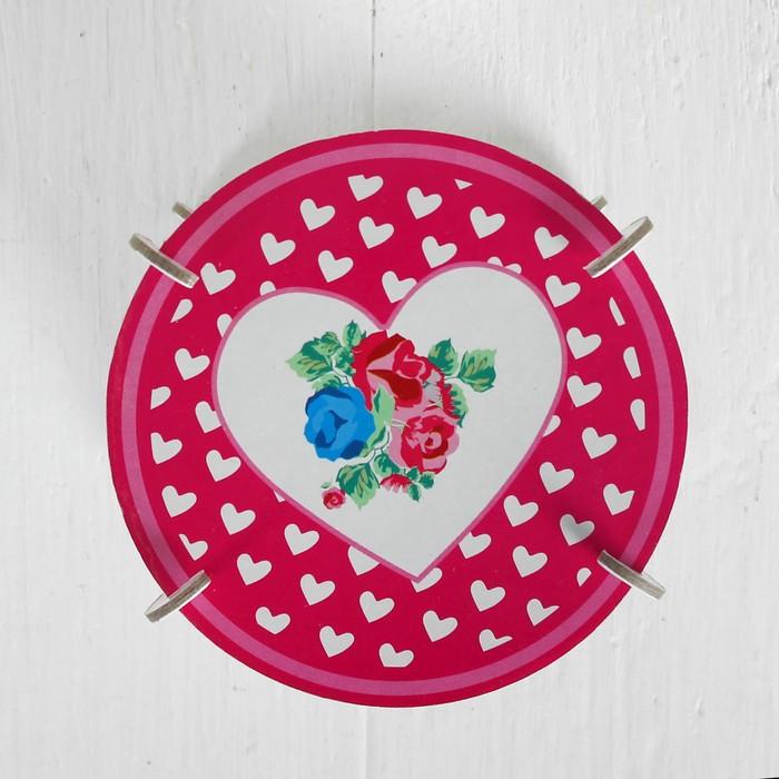 """Подставка для пирожных """"Цветочная поляна"""", набор 3 шт."""