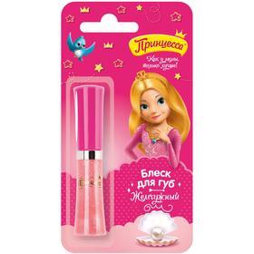 Блеск для губ «Принцесса», жемчужный, со спонжем, 5 мл