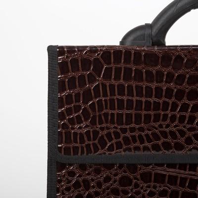 Портфель деловой, 2 отдела, цвет коричневый