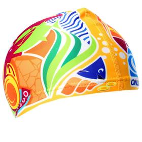 Шапочка для плавания «Подводный мир», детская, текстиль