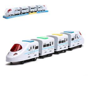 """Поезд """"Скорость"""", работает от батареек, световые и звуковые эффекты"""